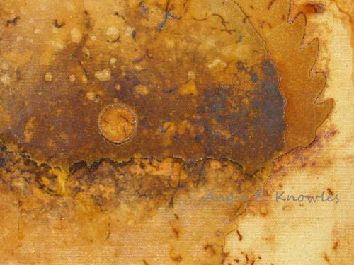 rust circles on canvas